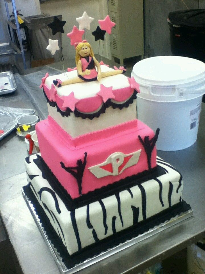 12 Cheerleader Birthday Cakes For Girls Photo Cheerleading