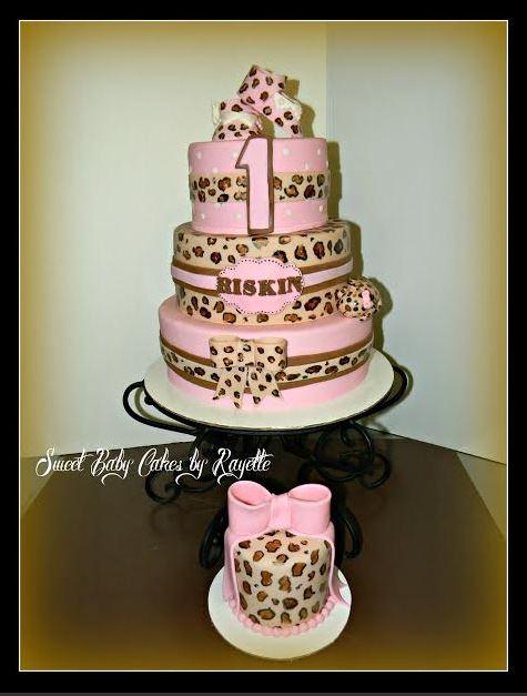 Admirable 12 Cheetah First Birthday Cakes For Girls Photo Cheetah 1St Funny Birthday Cards Online Benoljebrpdamsfinfo