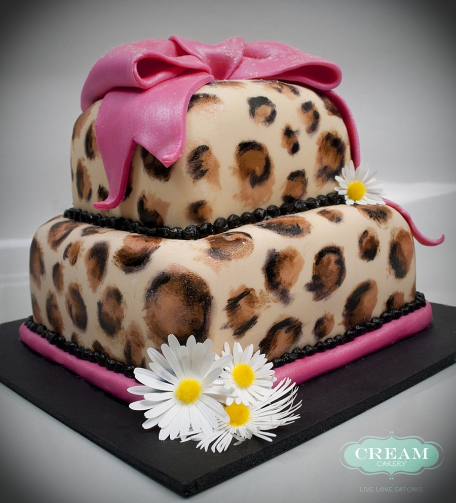 Marvelous 12 Cheetah First Birthday Cakes For Girls Photo Cheetah 1St Personalised Birthday Cards Petedlily Jamesorg