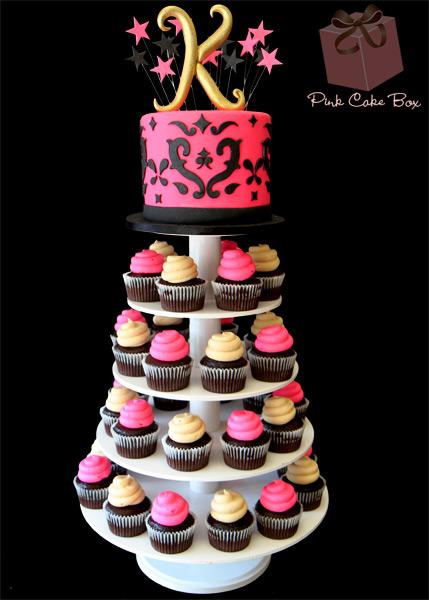 Swell 13 Birthday Cake Cupcakes Towers Photo Cupcake Tower Birthday Personalised Birthday Cards Beptaeletsinfo