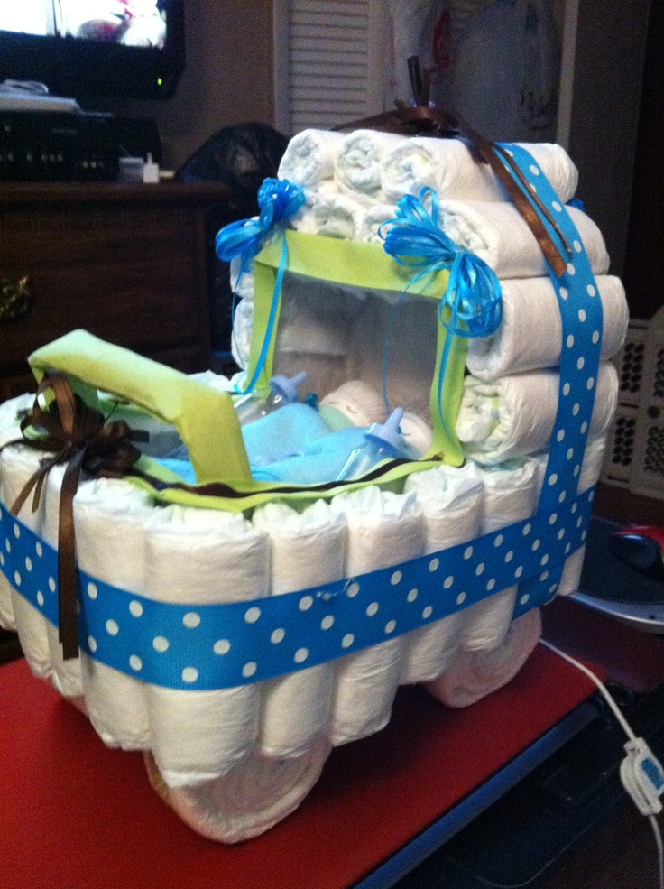 13 Stroller Diaper Cakes For Baby Showers Photo Baby Carriage