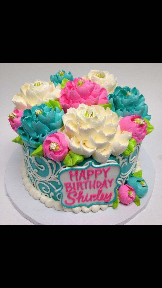 13 Birthday Cakes With Flowers For Mom Photo