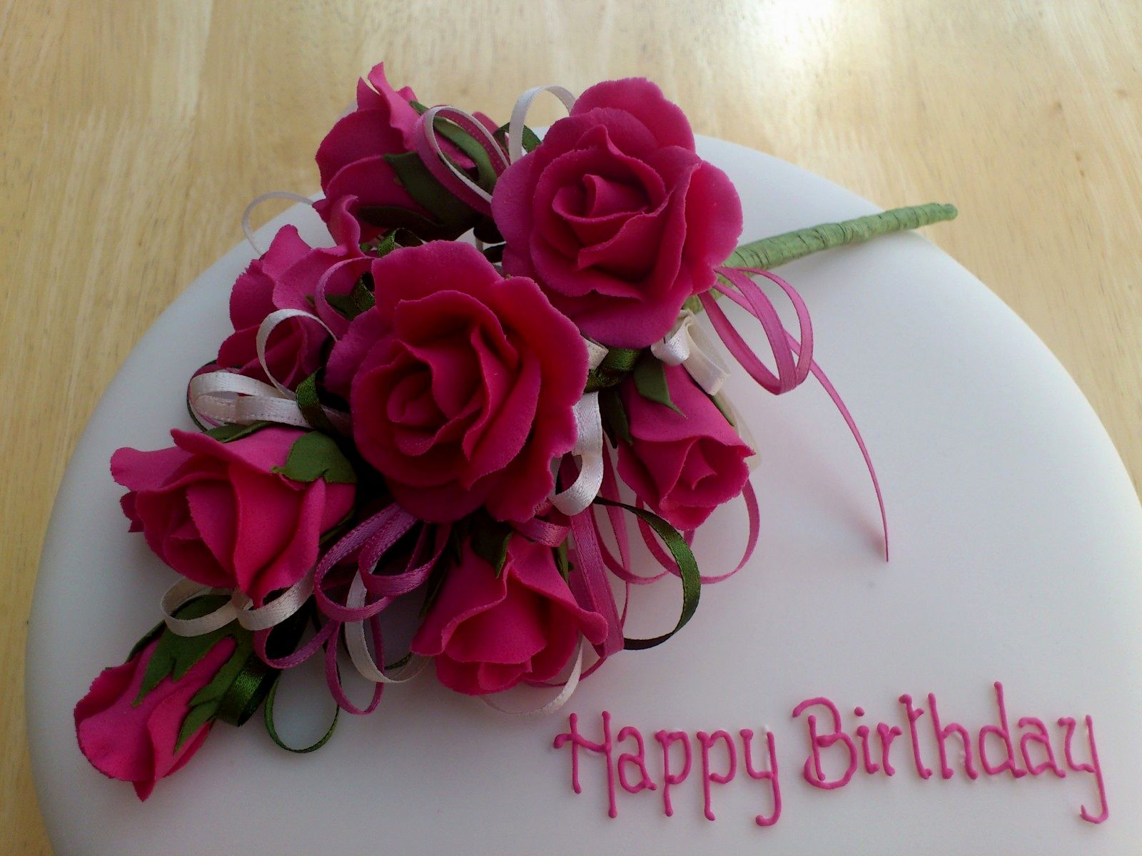 10 Birthday Cakes With Roses On Top Photo Birthday Cake With Roses