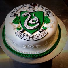 Harry Potter Slytherin Birthday Cake
