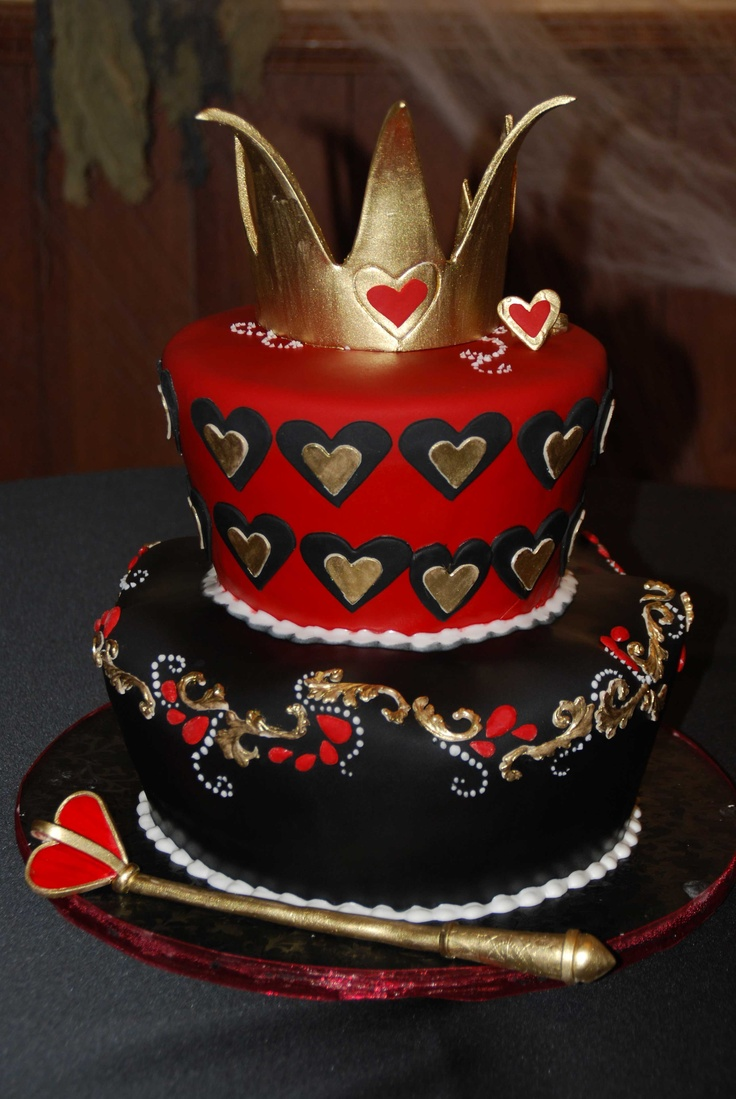 Heart Birthday Cake Queen
