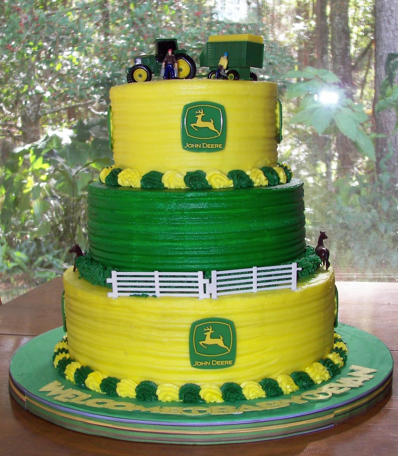 Excellent 8 John Deere Cakes Photo John Deere Birthday Cake John Deere Personalised Birthday Cards Veneteletsinfo