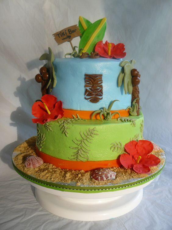 Remarkable 8 Hawaiian Birthday Cakes For Guy Photo Luau Birthday Cakes Men Funny Birthday Cards Online Elaedamsfinfo