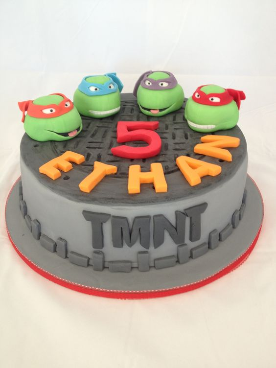 Ninja Turtles Birthday Cake 5 Year Old