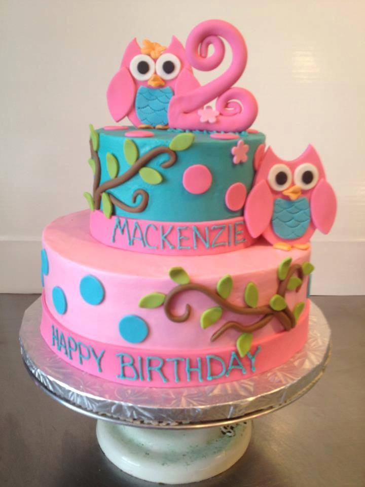 5 Owl Cupcakes For Girls Birthday Party Photo Girl Cupcake First