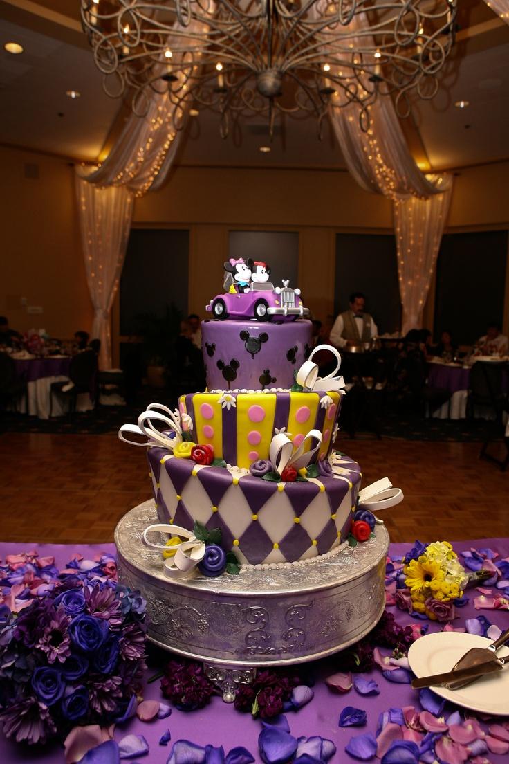 9 Purple Disney Wedding Cakes Photo - Disney Wedding Cake Purple ...