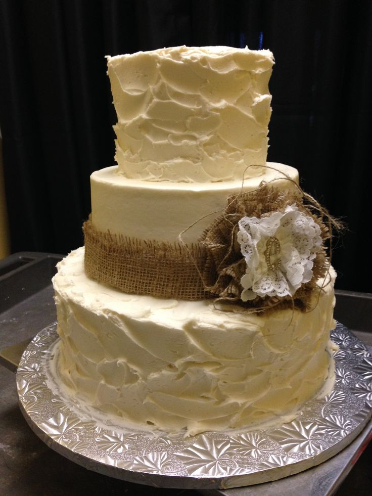 Rough Icing Wedding Cakes