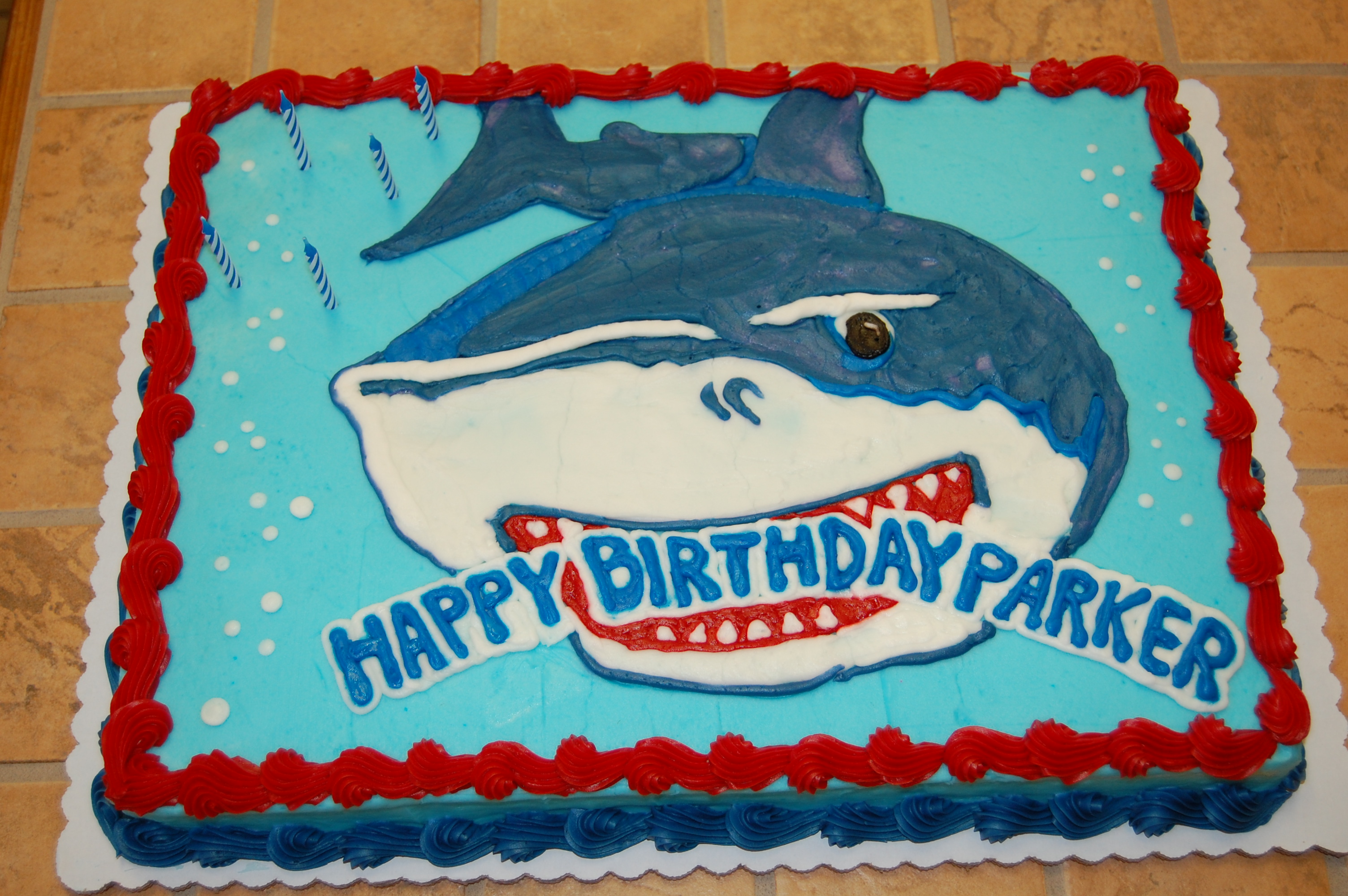 Surprising 9 Shark Birthday Party Cakes Photo Shark Birthday Cake Shark Funny Birthday Cards Online Fluifree Goldxyz