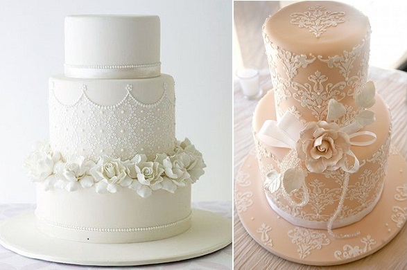 Stencils For Wedding Cakes Lace Design