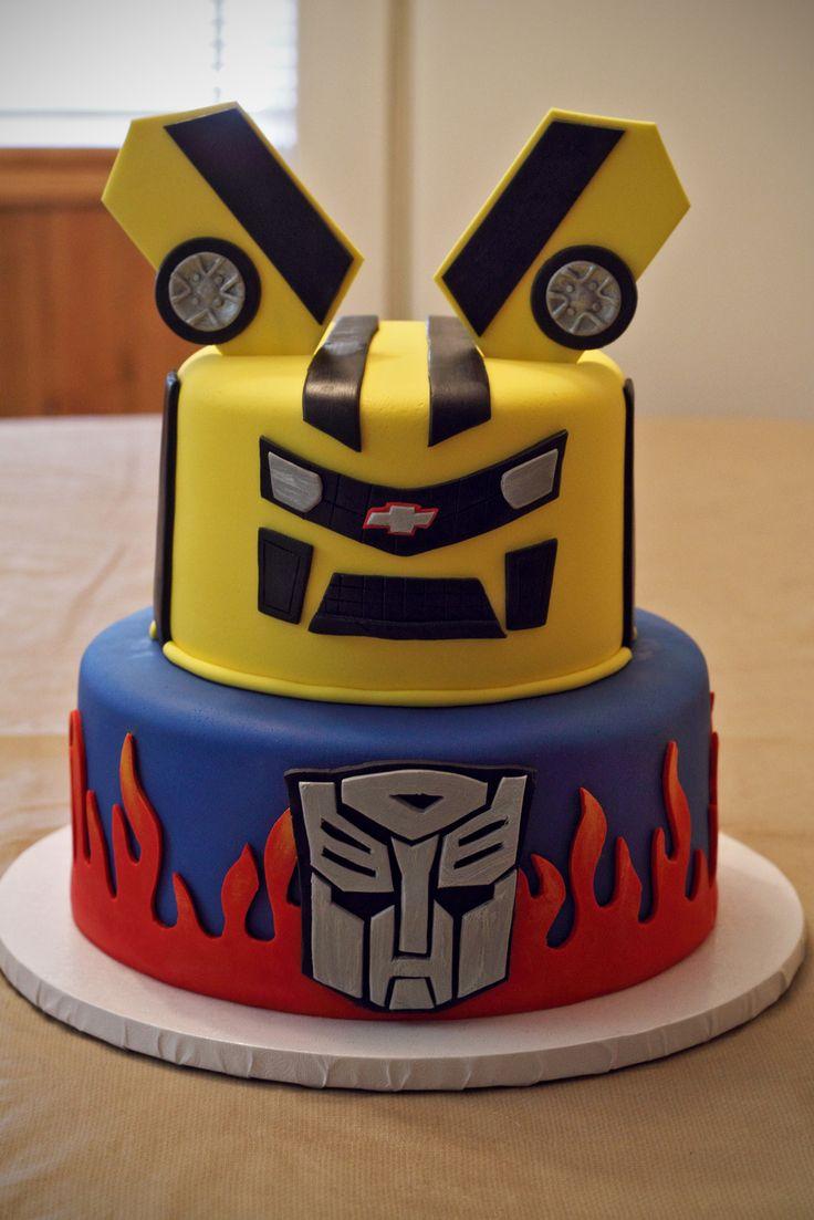 Groovy 10 Transformer Cakes For Boys Photo Transformers Cake Idea Funny Birthday Cards Online Alyptdamsfinfo