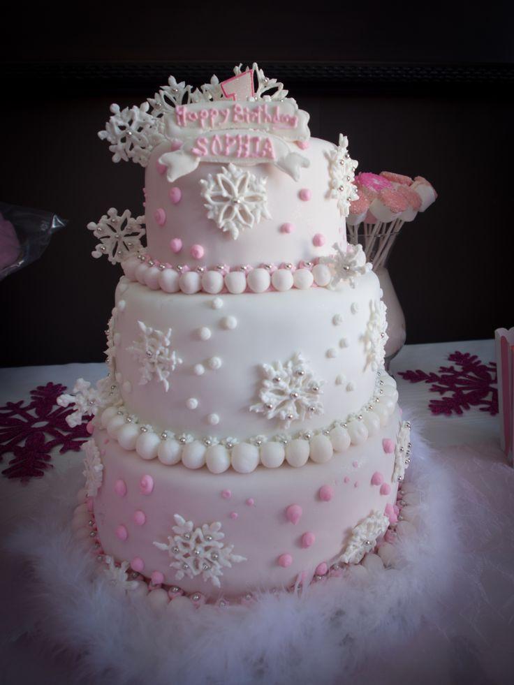 12 Winter Wonderland First Birthday Cakes For Girls Photo Winter