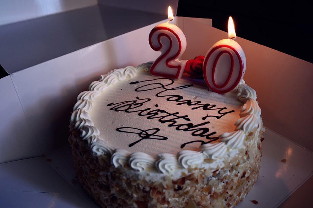 20 Year Old Birthday Cake