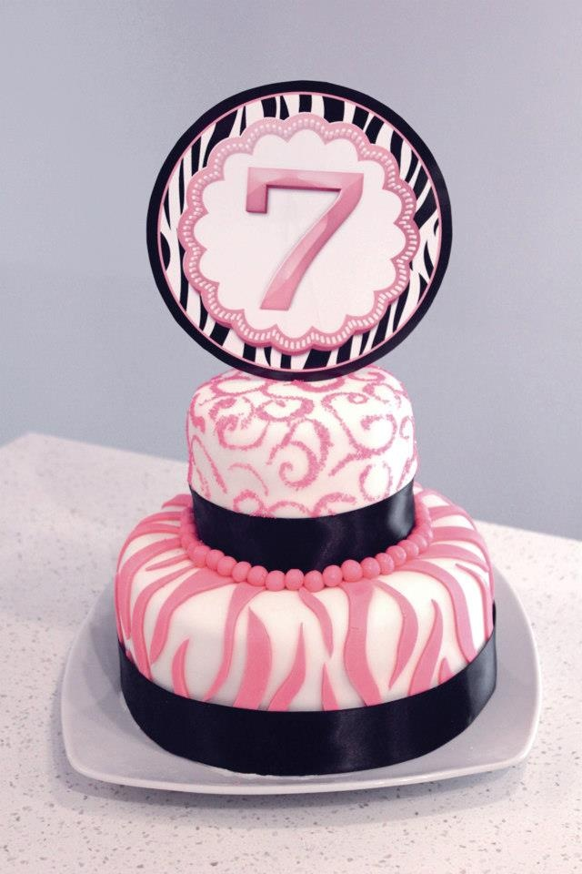 7 Year Old Girly Birthday Cake