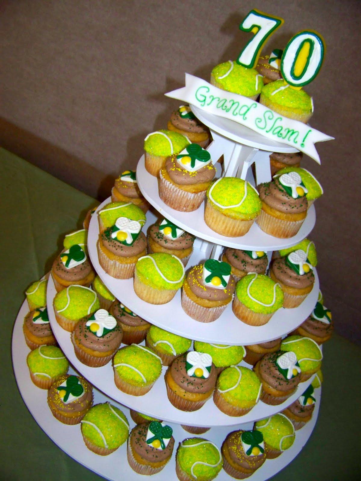 12 Tennis Birthday Cake Cupcakes Photo