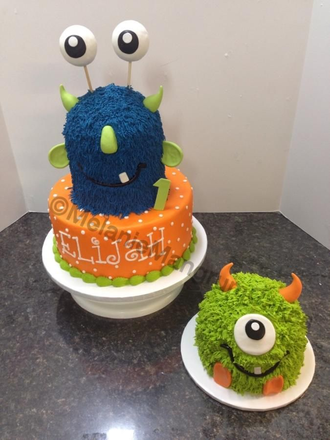 12 Monster Party First Birthday Cakes Photo Monsters 1st Birthday