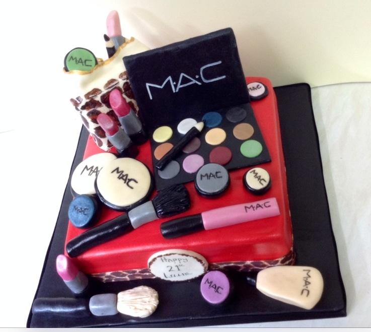 12 Mac Cosmetics Birthday Cupcakes Photo Mac Makeup Cake Mac