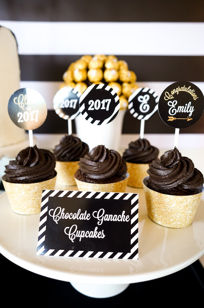 Black and Gold Graduation Party Ideas