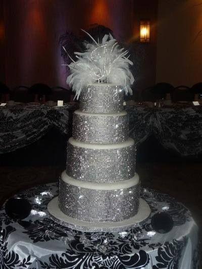 Blinged Out Wedding Cake