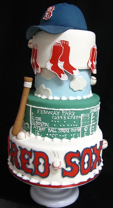 Astounding 9 Boston Baseball Birthday Cakes Photo Boston Red Sox Yankees Funny Birthday Cards Online Inifodamsfinfo