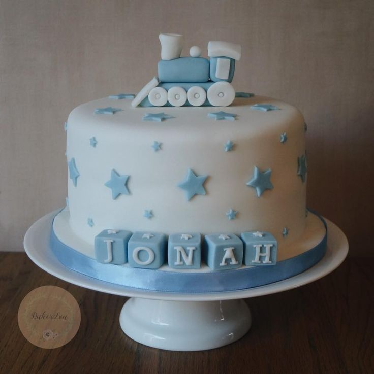 Boy Baptism Cake Ideas