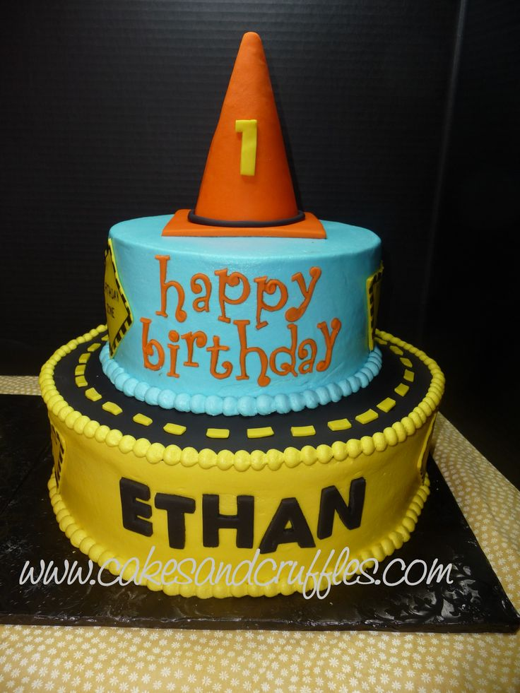 6 Themes With 2 Cakes Photo Construction Birthday Party Cake