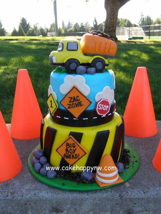 Stupendous 12 Construction Birthday Smash Cakes Photo Construction Themed Funny Birthday Cards Online Elaedamsfinfo