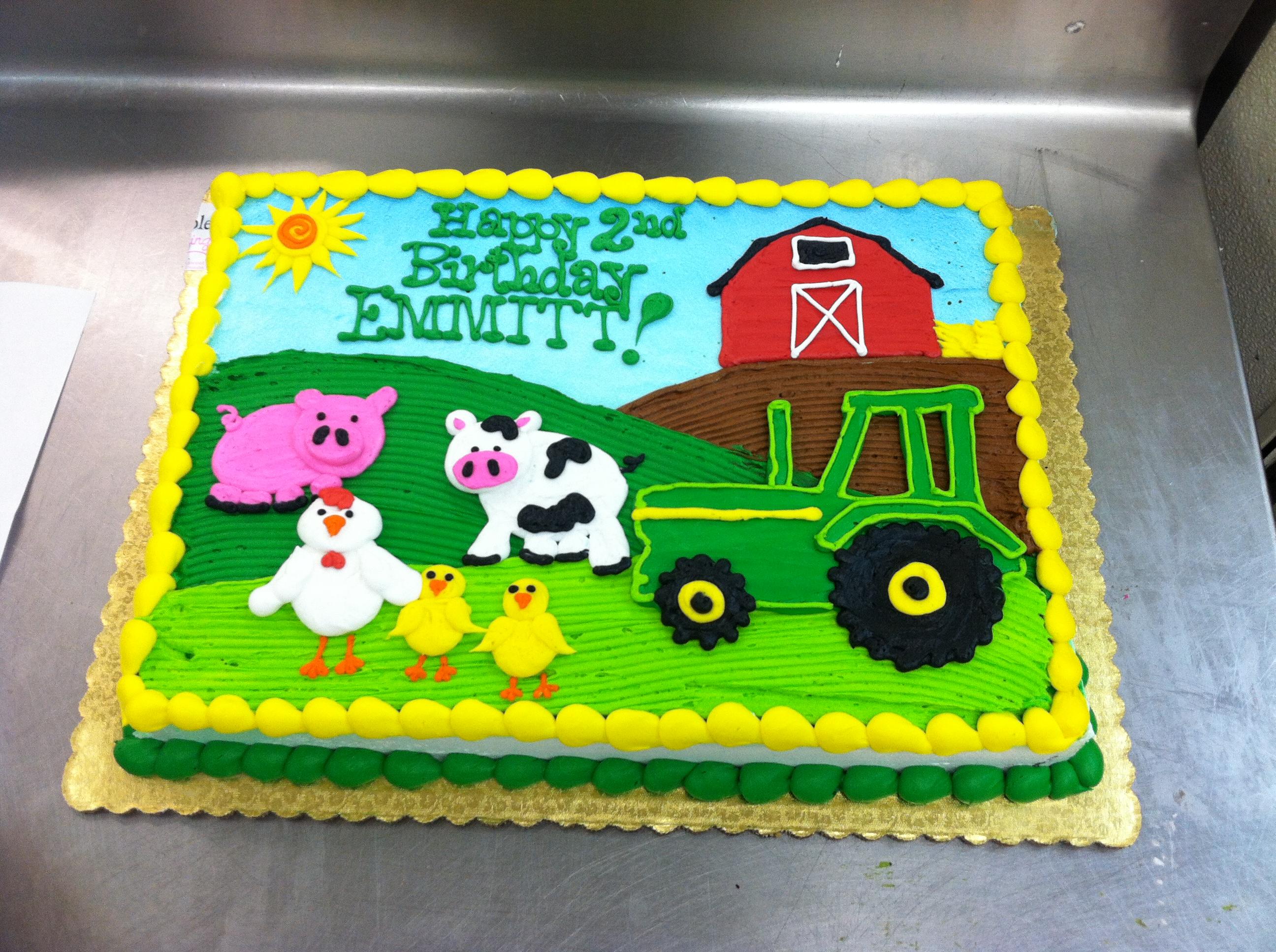Swell 11 Farm Birthday Cakes For Boys Photo Farm Birthday Cake Farm Funny Birthday Cards Online Unhofree Goldxyz