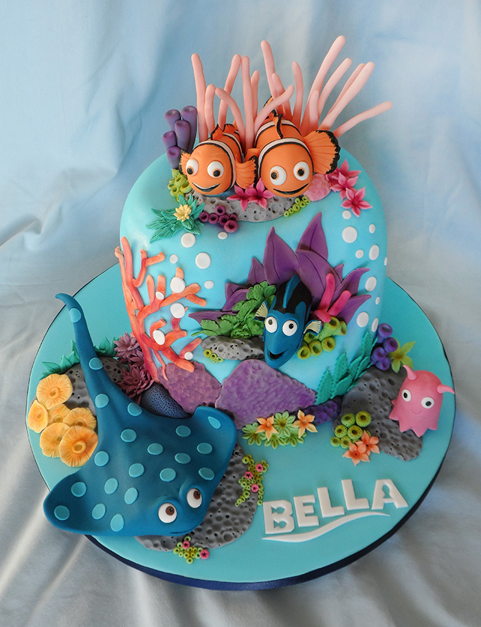 Pleasing 9 Finding Nemo Cake Ideas Birthday Cupcakes Photo Finding Nemo Funny Birthday Cards Online Elaedamsfinfo