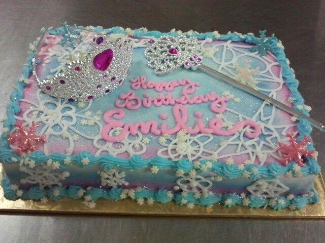 13 Sheet Cakes Snow Theme Photo Snowflake Birthday Sheet Cake