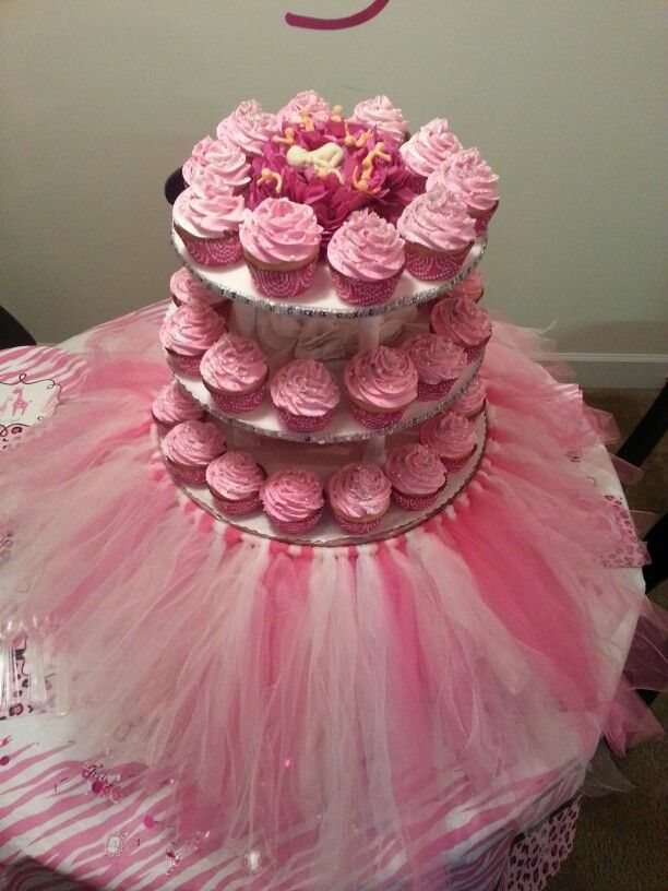 10 Tutu Baby Shower Cupcakes For A Girl Photo Tutu Baby Shower