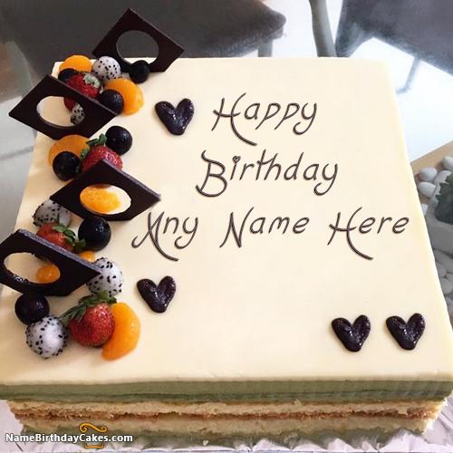 Happy Birthday Man Cake With Name