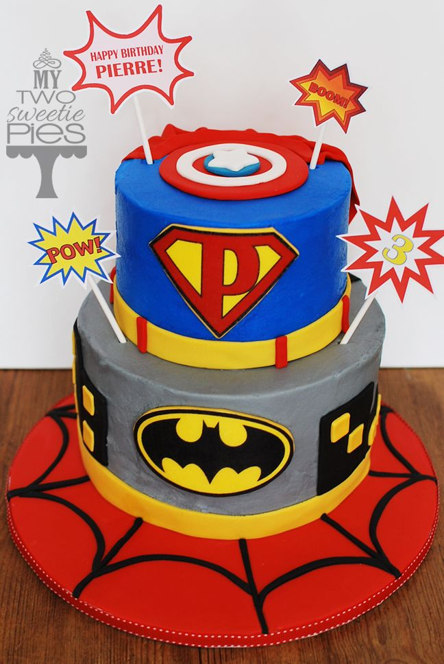 Happy Birthday Superhero Cake