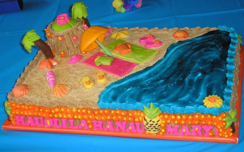 13 Hawaiian Sheet Birthday Cakes Photo