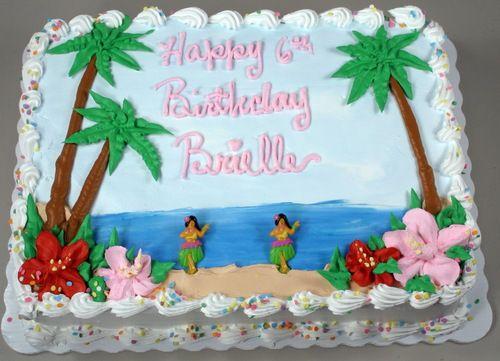 Hawaiian Themed Sheet Birthday Cake: Hawaiian Birthday Sheet Cakes At Alzheimers-prions.com