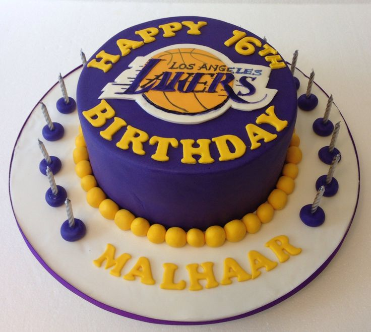 Basketball Happy 12th Birthday Cake 9 Laker Cupcakes Designs Ideas Photo