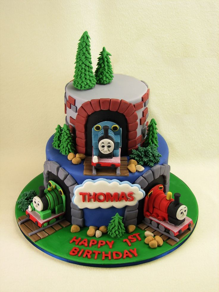 Fine 9 Thomas Friends Cakes Decorated Photo Thomas The Train Cake Funny Birthday Cards Online Overcheapnameinfo