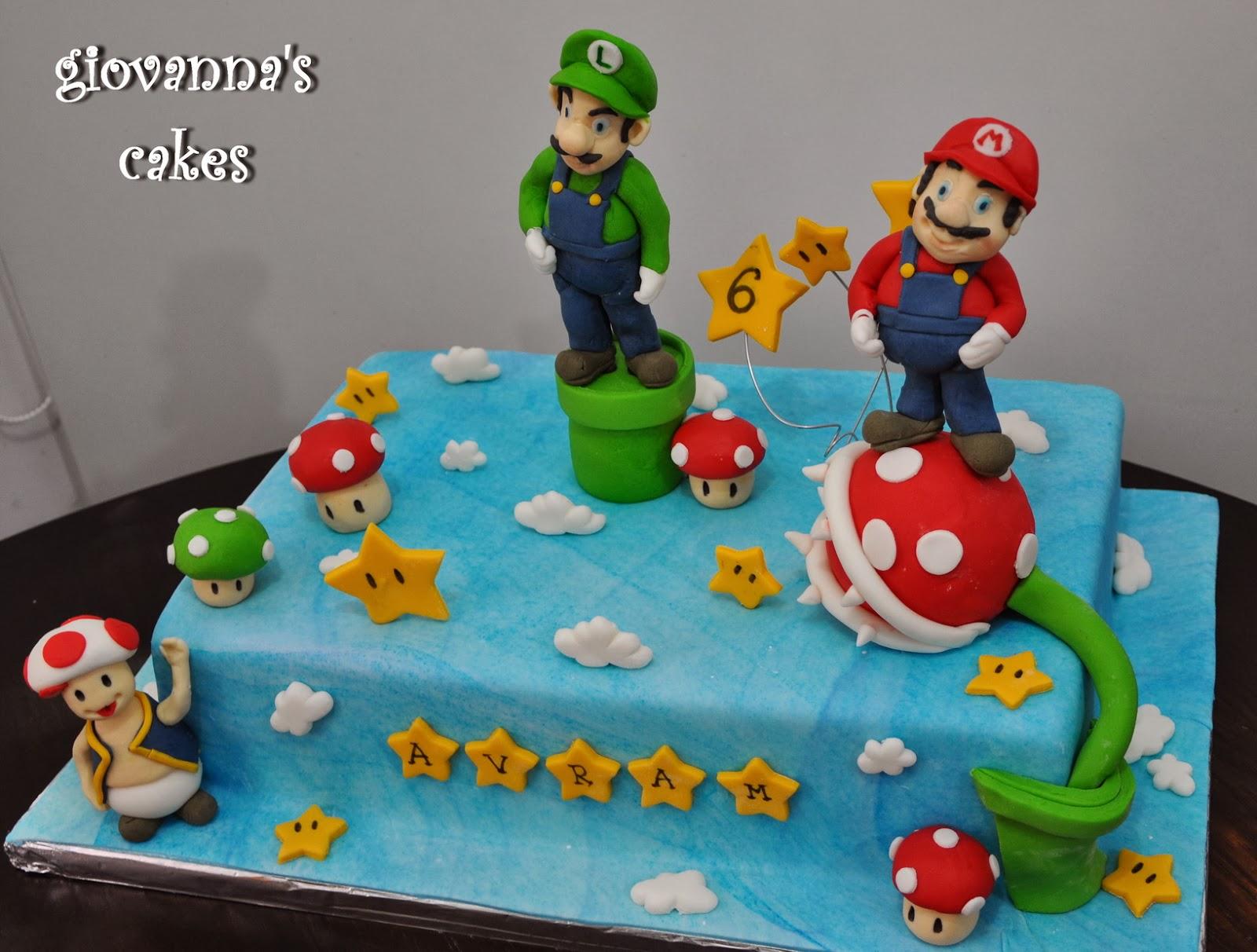Awesome 13 Cakes Mario Y Luigi Photo Mario And Luigi Cake Mario And Funny Birthday Cards Online Unhofree Goldxyz