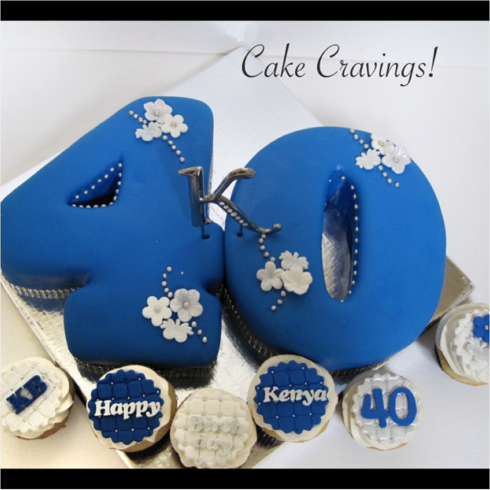 6 Cupcakes In The Number 40 Photo Birthday Cupcakes For Men Pull
