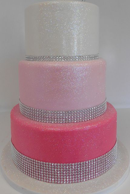 Pink Birthday Cake With Bling