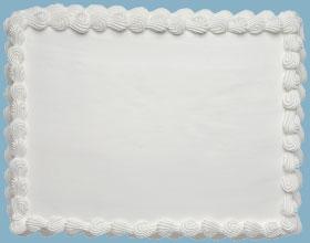 Plain Iced Sponge Cake To Decorate