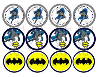 photo relating to Batman Cupcake Toppers Printable called 9 Batman Cupcakes Printables Picture - No cost Printable Batman