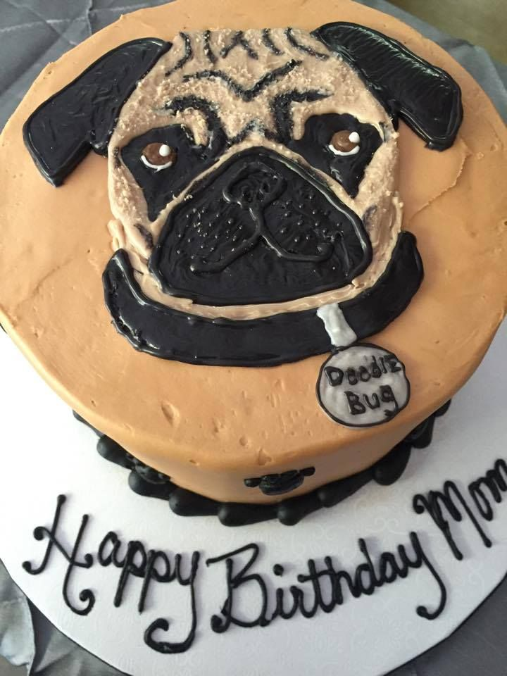 Wondrous 11 21St Birthday Cakes For Girls With Pugs Photo Pug Dog Funny Birthday Cards Online Bapapcheapnameinfo