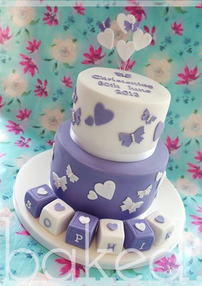 Purple Baby Block Cake