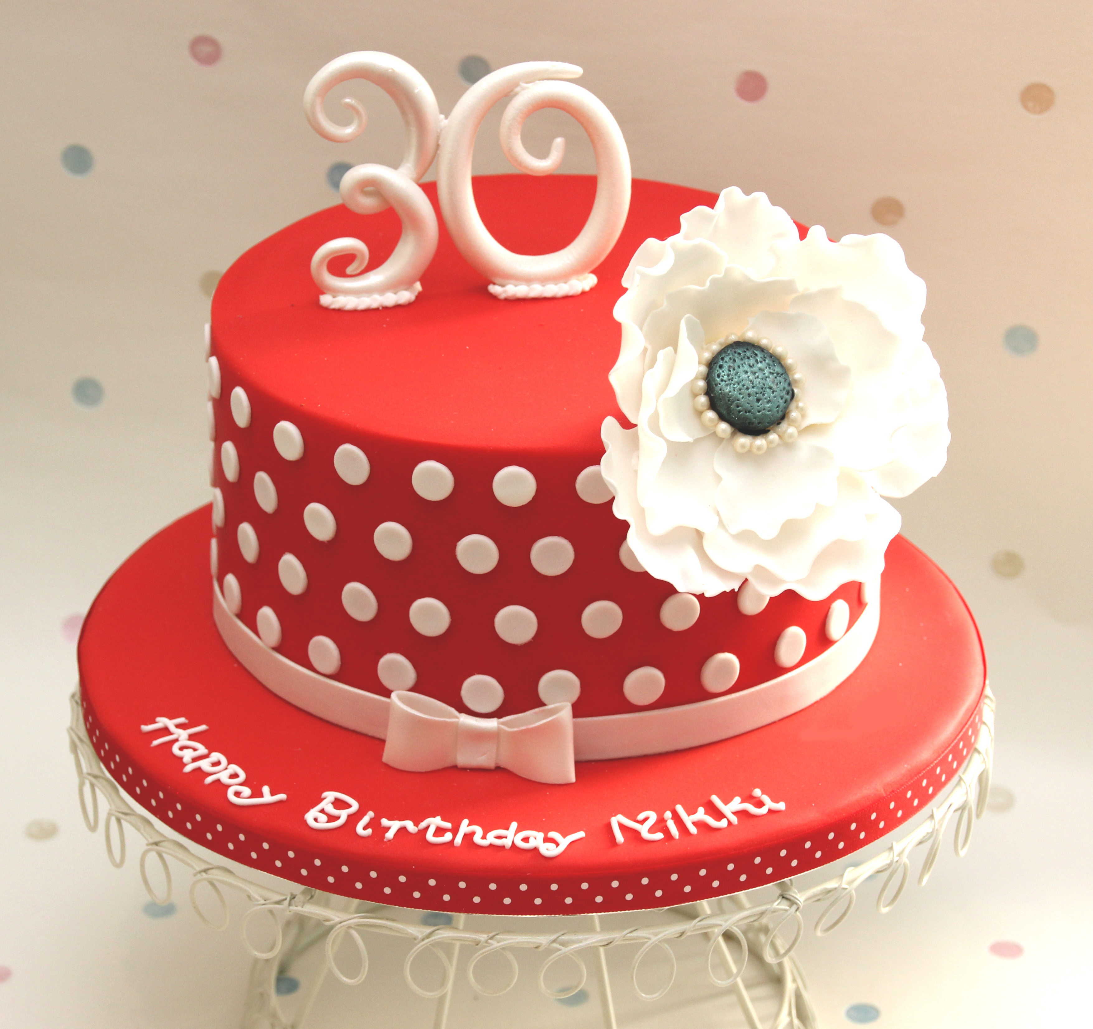 Incredible 10 Cakes White Red For A Friend Photo Red And White Polka Dot Funny Birthday Cards Online Alyptdamsfinfo