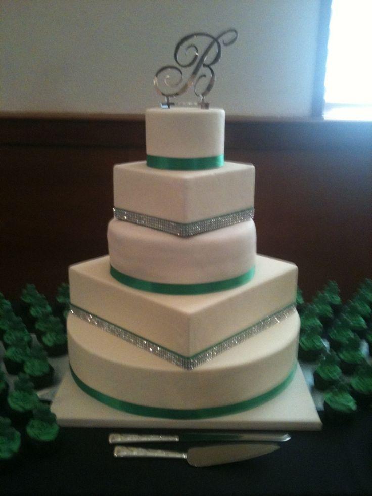 10 Celtic Square 2 Tier Wedding Cakes Photo - 2 Tier Wedding Cake ...