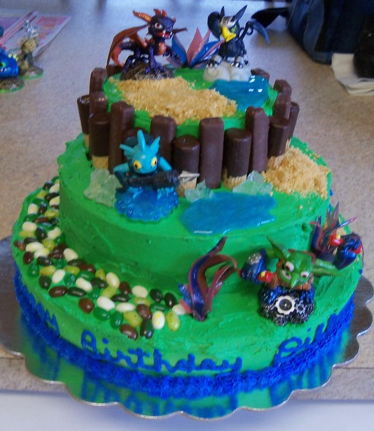 Terrific 10 Skylanders Birthday Cakes On Pinterest Photo Skylander Funny Birthday Cards Online Inifodamsfinfo